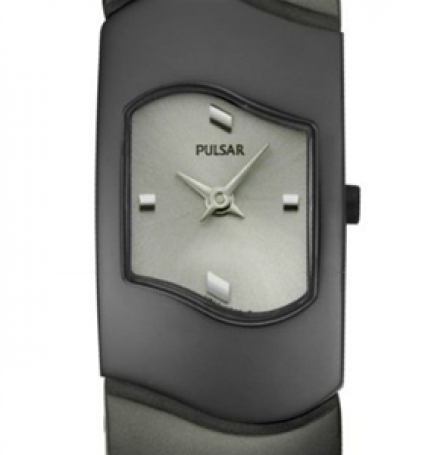 Pulsar Women's Grey Dial Black Stainless Steel