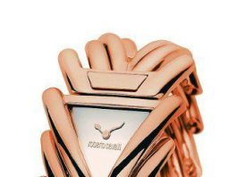Roberto Cavalli Women's Spike White Dial Rose Gold Tone Stainless Steel