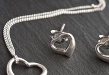 Personalised Box with Heart Necklace and Earrings