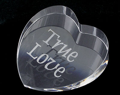 Personalised Heart Paperweight