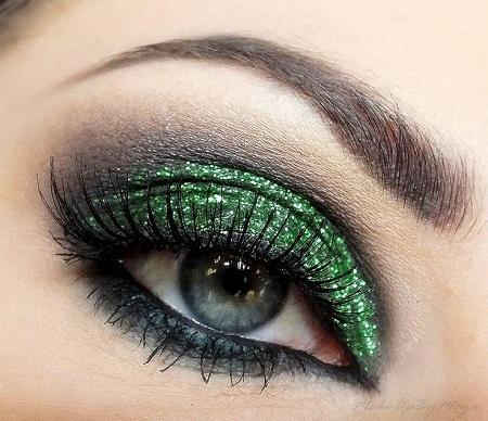 Glittering Green