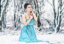 strapless dress in winter