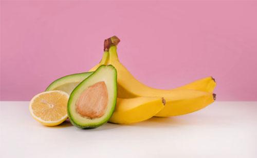 Banana and avocados